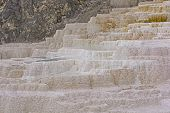 foto of mammoth  - Travertine in a Hot Spring in Mammoth Hot Springs in nature - JPG