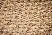 stock photo of coir  - Close up rubber back of coconut fiber mat - JPG