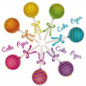 foto of cake pop  - Set of tasty candy - JPG