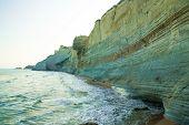 stock photo of sidari  - Beautiful view of the beach early in the morning - JPG