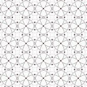 foto of node  - Dotted seamless pattern with circles and nodes - JPG