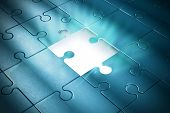 foto of puzzle  - Missing piece of the puzzle of success - JPG