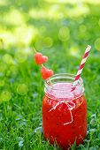 Постер, плакат: Watermelon Smoothie As Healthy Summer Drink