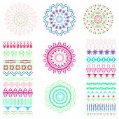 stock photo of divider  - Set of seamless brushes or dividers - JPG