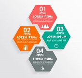 picture of step-up  - Infographics square shape elements - JPG