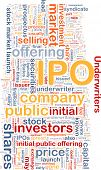 pic of initials  - Background text pattern concept wordcloud illustration of IPO initial public offering - JPG