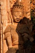 pic of guardian  - Guardian spirit on the walls of an ancient stupa at In Dein Inle Lake Myanmar  - JPG