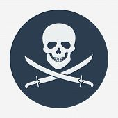 picture of pirate flag  - Pirate flag icon - JPG