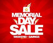 stock photo of memorial  - Memorial day sale - JPG