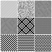 picture of chevron  - Set of 8 abstract geometric patterns - JPG