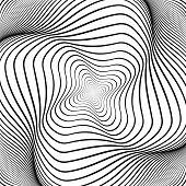 stock photo of distort  - Design monochrome swirl movement illusion background - JPG