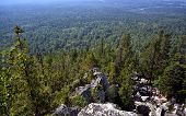 foto of lichenes  - Ural mountains and national park Taganay - JPG