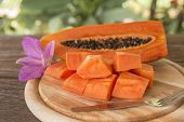 image of pawpaw  - Place the sliced  - JPG