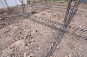 pic of reinforcing  - reinforcing steel rods bars for building construction - JPG