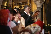 ������, ������: Petro Poroshenko At Festive Liturgy At St Vladimir Patriarchal Cathedral