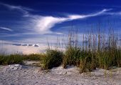 picture of higher power  - Cloud formation above dunes on the west coast of Florida - JPG