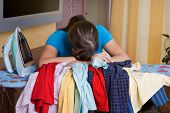 Woman During Ironing