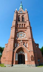 image of ascension  - Catholic church of the Ascension of the Virgin Mary Palanga Lithuania - JPG