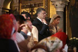 stock photo of baptism  - KIEV UKRAINE  - JPG