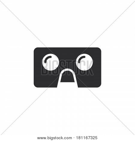 Virtual Reality Cardboard Glasses Icon Vector, Vr Headset Device Solid Logo  Illustration, Pictogram poster