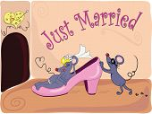 picture of fancy mouse  - The comic newly married couple of mouses - JPG