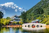 Scenic View Of The Jade Dragon Snow Mountain, Lijiang, China poster