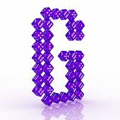 stock photo of g-spot  - Dice font letter G - JPG