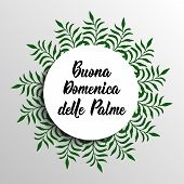 Happy Palm Sunday. Translation From In Italian: Happy Palm Sunday. Quote To Design Greeting Card, Po poster