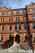 foto of front door  - typical beautiful london houses in England - JPG