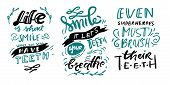 Smile Quotes. Hand Lettering Illustration For Your Design. Life Is Short. Smile, While You Still Hav poster