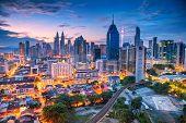Kuala Lumpur. Aerial Cityscape Image Of Kuala Lumpur, Malaysia During Sunrise. poster