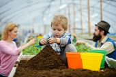 Little Biologist. Little Biologist Work With Soil. Little Biologist In Greenhouse. Little Biologist  poster
