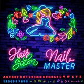 Beauty Salon Neon Sign Vector. Beauty Salon Design Template Neon Sign, Light Banner, Neon Signboard, poster