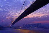pic of tsing ma bridge  - Tsing Ma Bridge in Hong Kong - JPG