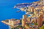 Monaco And Monte Carlo Cityscape And Harbor Aerial View, Principality Of Monaco poster