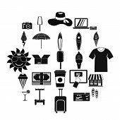 Tourist Shopping Icons Set. Simple Set Of 25 Tourist Shopping Icons For Web Isolated On White Backgr poster