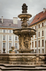 picture of leopold  - Kohl Fountain Also Known As Lion Fountain Or Leopold Fontain In Praga Palace - JPG