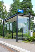 pic of bus-shelter  - Urban bus stop shelter space for your advertisement - JPG