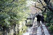 KYOTO - NOVEMBER 19: Philosophers Walk November 19, 2012 in Kyoto, JP.  The route is named after the