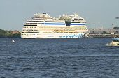 The AIDA Cruse ship in Hamburg