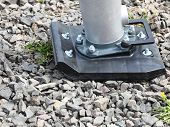 foto of vibration plate  - Industry tool for compacting a sand soil plate compactor jumping jack construction machine - JPG