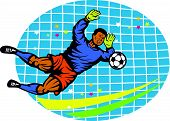 Goalie Football Player Retro