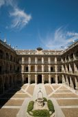 stock photo of tomas  - Santo Tomas de Villanueva Cloister of Alcala de Henares University - JPG