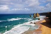 image of 12 apostles  - closeup of beautiful 12 apostles in Australia - JPG