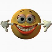 stock photo of smiley face  - 3D Render - JPG