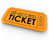 picture of carnival ride  - All Access Ticket words orange pass special - JPG
