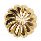 pic of brooch  - Old gold brooch isolated on white background - JPG