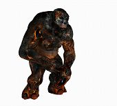 stock photo of troll  - 3d render of a troll creature character - JPG