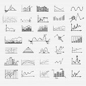 stock photo of profit  - business finance statistics infographics doodle hand drawn elements - JPG