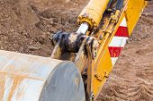image of hydraulics  - Excavator scoop  - JPG